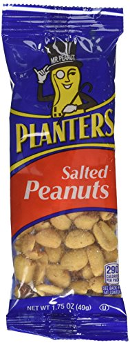Planters Salted Peanuts, 12-1.75 Ounce Bags, 21.0 Ounce