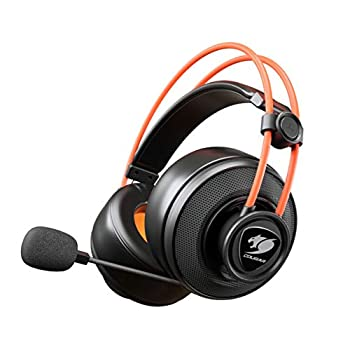 Cougar Immersa Ti Gaming Headset - Microphone and Volume Control - Lightweight- Noise Cancelling Headphone - 3.5m Phone Plug for PC Gaming, PS4