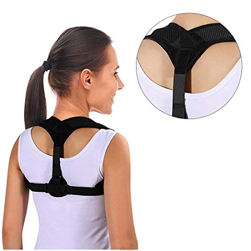 Back Braces Posture Corrector for Women/Men - Upright Go - Back Posture Brace - Neck Hump Corrector - Clavicle Support Brace - Effective and Adjustable Primate Posture Brace - Upper Back Pain Relief