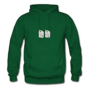 Cats On The House Print Elegent : X-large Womenhoody Green- Made In Good Quality.