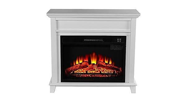 Wenwenzui-ES Calentador de Ventilador Derecho del gabinete de Madera de la Estufa eléctrica del Efecto de la Llama ardiente: Amazon.es: Hogar