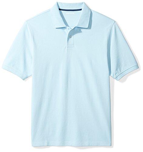 Amazon Essentials Men's Regular-Fit Cotton Pique Polo Shirt, Light Blue, ()