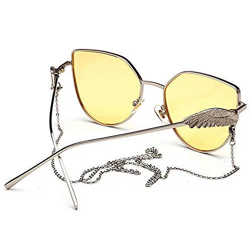 la Lentes Coloreada Uiophjkl Lente para para con la de UV400 Verano de Wings de Unisex borlas Uso Cadena Vacaciones espejados Adecuado en Playa Protección Conducir de Angel Planos Sol C3 Diario Gafas de FdnHrwdqa