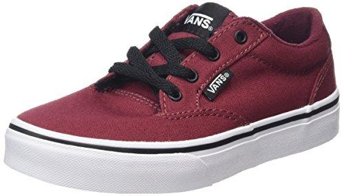 Vans Winston - Zapatillas Unisex Niños Rojo (Canvas Oxblood red/Black)