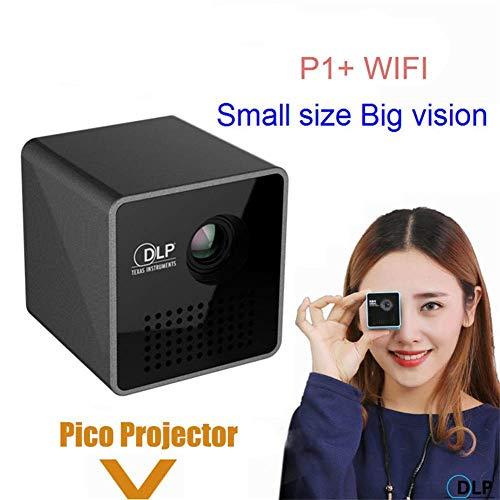 AAFLY Miniprojektor, beweglicher WiFi Pocket Projector Android IOS DLP 3D-HD 1080P Home Cinema Bluetooth-USB-LED-DLP…
