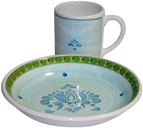 CALECA Night Flower 8-Piece Mug and Soup Bowl Set, Service for 4