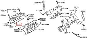 Jakoparts J1221083 Cylinder Head Cover Gasket
