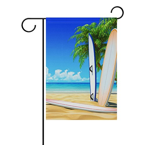 LEISISI Beach Skateboard Garden flag 28