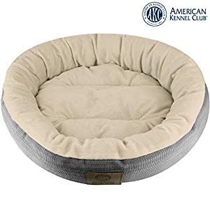 Terrific American Kennel Club Akc3615Gray Mason 22 Round Pet Bed Creativecarmelina Interior Chair Design Creativecarmelinacom