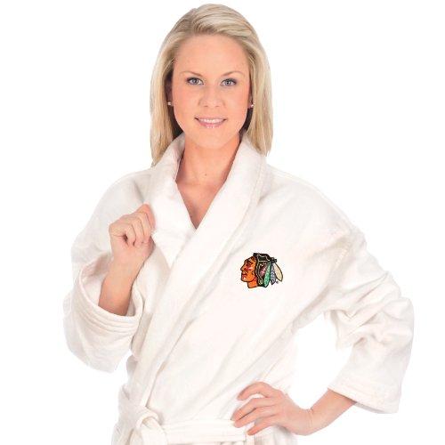 NHL Chicago Blackhawks Cotton Robe (White, One - Chicago Robe