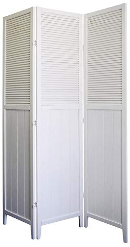 3 Room Panel Door Shutter - ORE Furniture International Shutter Door 3-Panel Room Divider, White