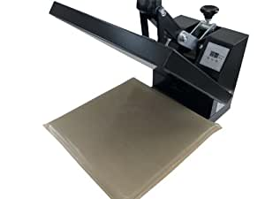"""Lower Platen Base Wrap Cover Protector Heat Press 15"""" X 15"""" PTFE"""