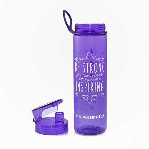 Purple Flip Lid Motivational Bottle®