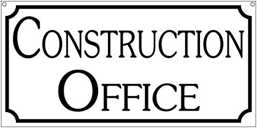 Construction Office- 6x12 Aluminum Retro vintage business sign By Bart Berkeley from WenNuNa