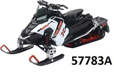 POLARIS SNOWMOBILE WHITE SWITCHBACK PRO-X 800 NEWRAY TOYS# 57783A Orange Cycle Parts