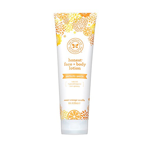 Honest Perfectly Gentle Hypoallergenic Face and Body Lotion with Naturally Derived Botanicals, Sweet Orange Vanilla, 8.5 Fluid -