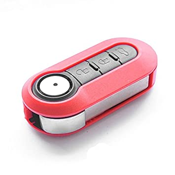 SIP22 Rohling Batterie f/ür FIAT 500 Ducato Punto Peugeot Boxer Citroen Jumper FIAT Autoschl/üssel Funk Fernbedienung Austausch Geh/äuse mit 3 Tasten