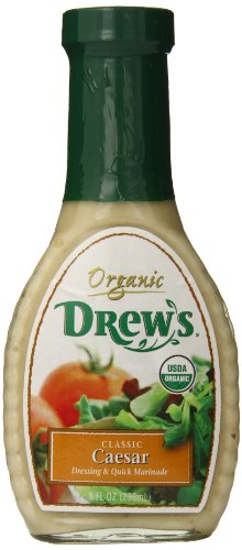 Drew's All Natural Organic Caesar Salad Dressing, Classic, 8 Ounce