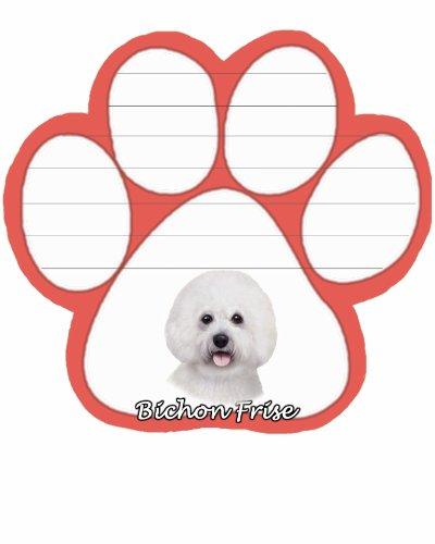 Bichon Frise Notepad - E&S Pets NP-4 Dog Notepad