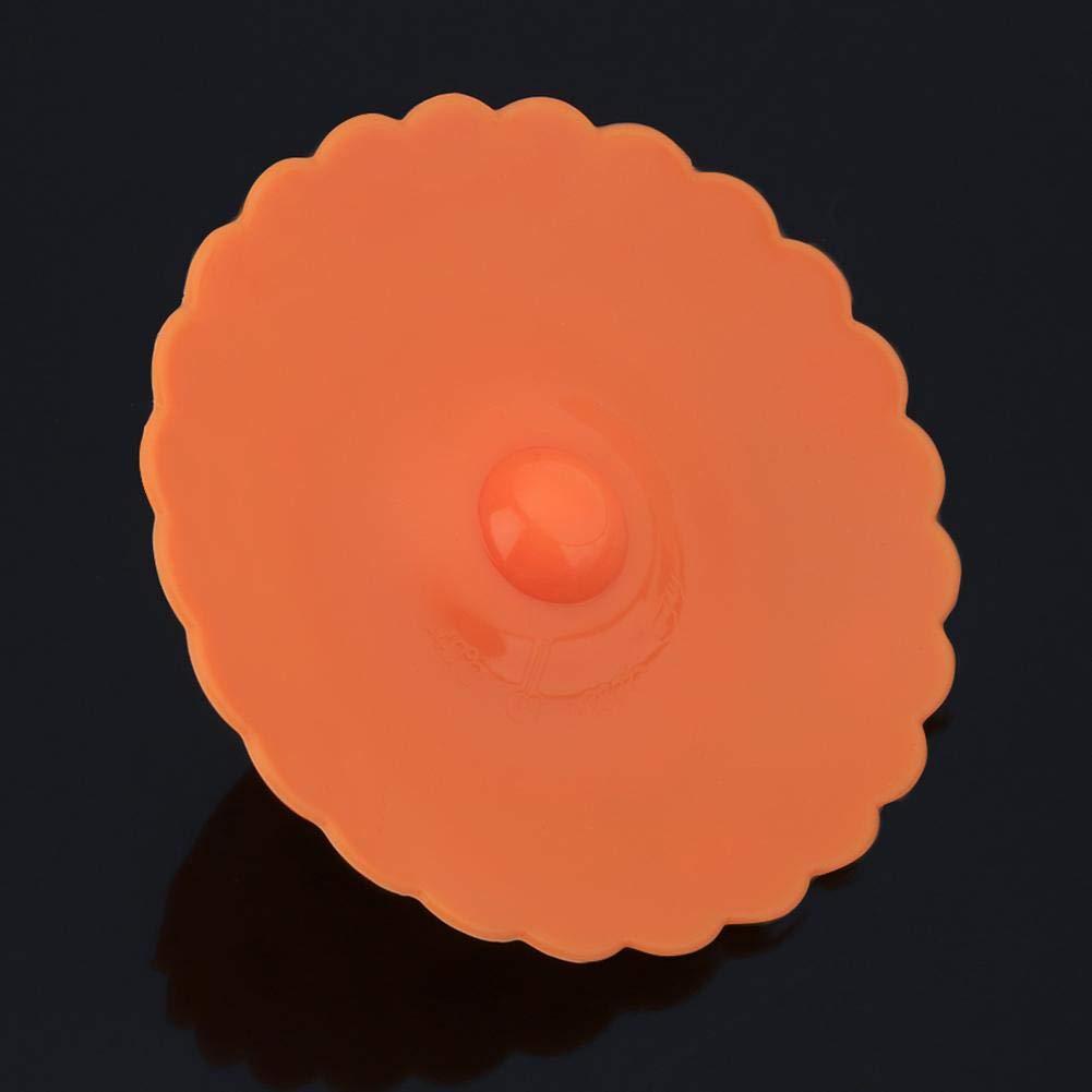 aislamiento t/érmico azul con tapa antigoteo Tapa de silicona para taza de 10 cm de di/ámetro