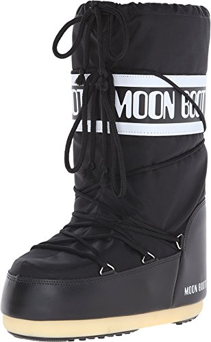 Cold Weather Fashion Boots - Tecnica Women's Moon Boot Cold Weather Fashion Boot,Black,39-41 EU (7-8.5 M US Women's)