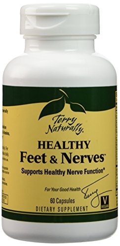 Terry Naturally Healthy Feet & Nerves - 60 Vegan Capsules - Nerve Function Support Supplement, Contains B Vitamins, Alpha-Lipoic Acid (ALA) & Boswellia - Non-GMO, Gluten-Free - 30 Servings