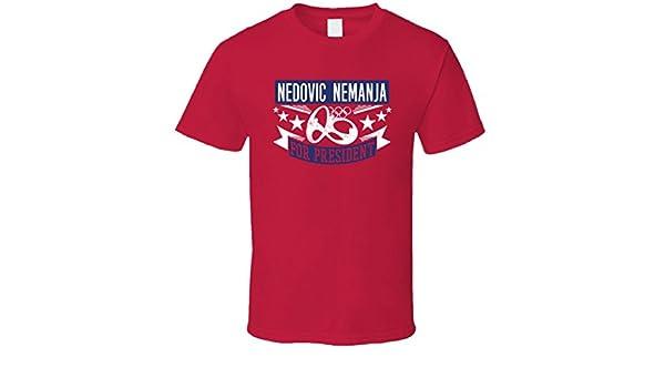 nedovic Nemanja para Presidente Serbia Baloncesto T Shirt: Amazon ...