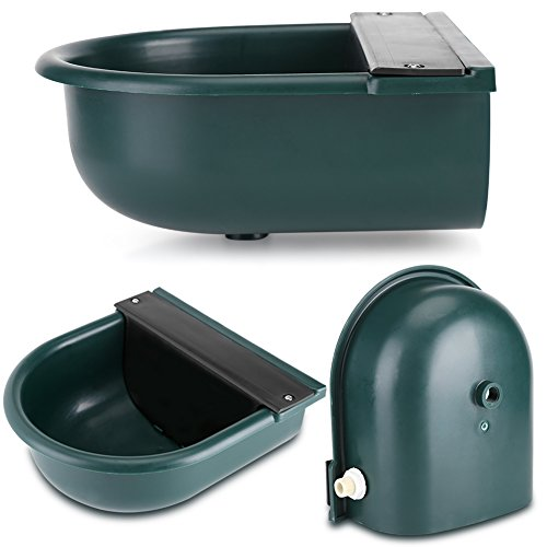 Yosoo Drinking Bowl For Dog, 4L Automatic Float Valve Water Trough Livestock Drinking Bowl for Cat Sheep Dog Horse Farm Supplies, Plastic + Copper by Yosoo