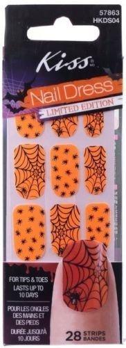 Kiss Nail Dress Orange Spider Nails -
