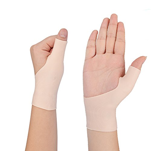 Kspowwin 2 Piece Gel Wrist Support Braces for Right & Lift Hand Relieve Wrist & Thumb Pain For Arthritis, Rheumatism, Carpal Tunnel, Tendinitis One Size Fit All For Men And Women(1 Pair ) - 2 Piece Stretch Wrap