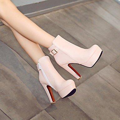 Wsx & Plm Femmes-talons-casual Carré-faux Cuir-noir Rose Rouge Blanc, Us7.5 / Eu38 / Uk5.5 / Cn38