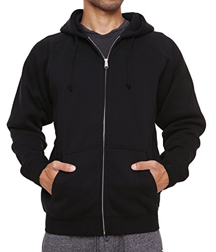 Front Pocket Zip Hoodie - FORBIDEFENSE Men's Sweatshirt Hoodies Full Sleeve-Front Zip Premium Hood 2 Kangaroo Split Pocket