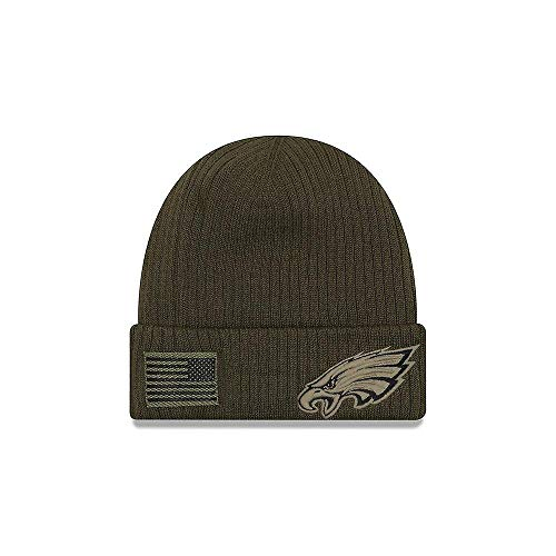7b3c2ddcfb1d6 New Era 2018 Mens Salute to Service Knit Hat (Philadelphia Eagles)