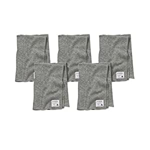 Burt's Bees Baby - 5 Pack of Burp Cloths, 100% Organic Cotton (Heather Grey)