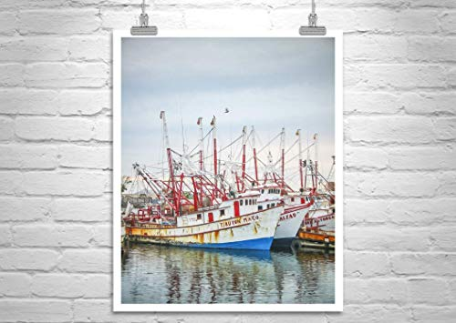 Rocky Point Mexico, Puerto Peñasco, Fishing Boats, Shrimp Boats Print