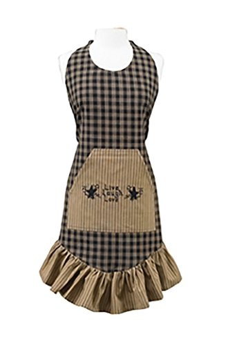 Park Designs Sturbridge Prairie Apron, Black (Valance Window Sassy)