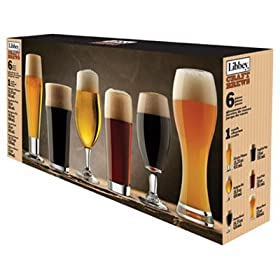 Libbey Craft Brew Sampler Clear Beer Glass Set