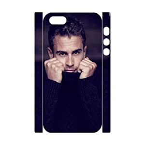 3D Tyquin Theo James for IPhone 5,5S Cases Turtleneck Theo James, [White]