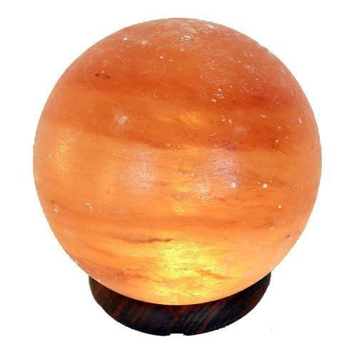 Lámpara de Sal en forma de Sol o Planeta, Diámetro 15 cm, 3 - 4 kilos Incluye Cable y bombilla [Clase de eficiencia energética E]