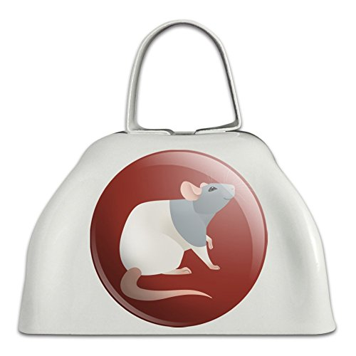 Hooded Rat - Hooded Rat White Metal Cowbell Cow Bell Instrument