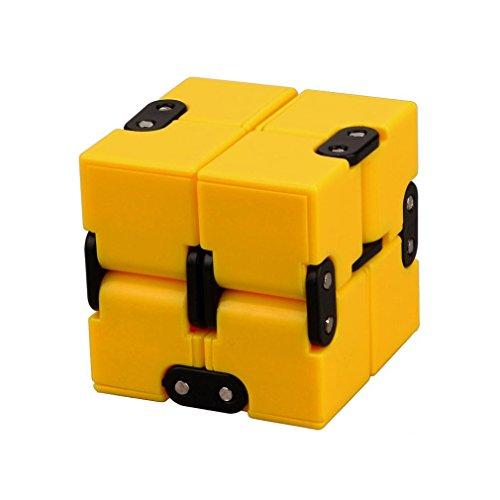 Edc Costumes Ideas (Magic Cube,Infinity Cube,Hometom Luxury EDC Infinity Mini Cube (Yellow))