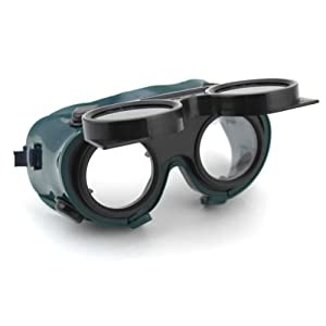Safety First With This Adjustable Elastic Strap Welding Cutting Welders Safety Goggles Glasses In Dark Green Lenses That Can Flip Up And Down To Protect Your Eyes From Debris And Sparks