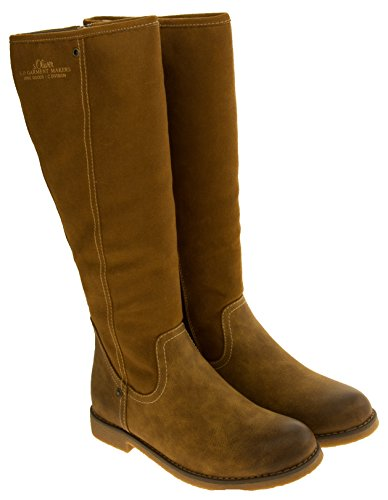 Boots Faux Tan S Kvinners Wedge Lær oliver Lys Brun Twvn0q14