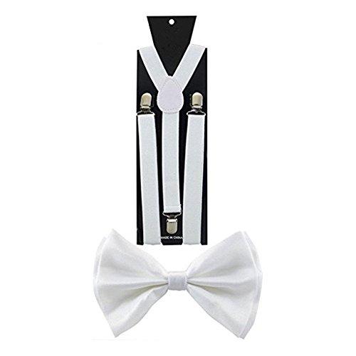 Combo Mttre De Cravate Correspondre Pack Bretelles Accessorystation® Nœud Cadeau Blanc Argent Unisexe Et Surprenant En paillettes Couleurs U0qvwHzx