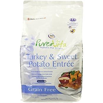 Pure Vita Grain Free Turkey Dry Dog Food 5lb bag