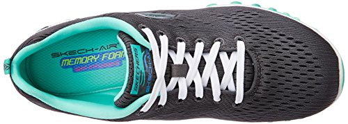 charcoal Aim Outdoor High 2 Air turquoise Gris Skechers Multisports Femme 0 qUgzTWw