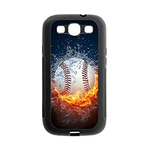 Samsung Galaxy S3 I9300 Case,Sports Baseball Powerful Fire And Water Wonderful Design Cover With Hign Quality Plastic Protective Rubber Case