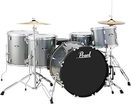 - Pearl Roadshow RS525WFC/C706 5-Piece Drum Set, Charcoal Metallic