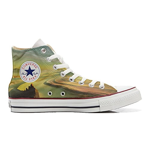 Schuhe Star personalisierte Converse Customized River Handwerk Schuhe All Hi W4Sgn0a