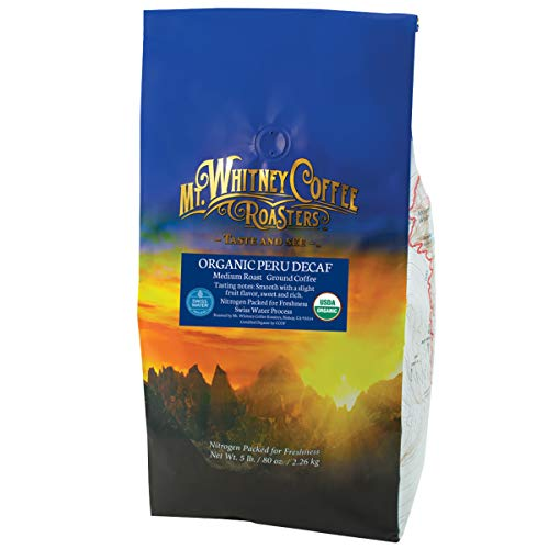 Mt. Whitney Coffee Roasters Organic Peru Swiss Water Process Decaf (Ground), 5lb